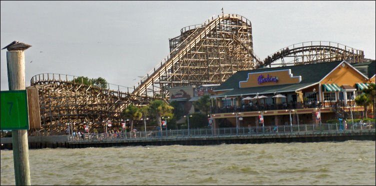 3,256' long roller coaster the Boardwalk Bullet