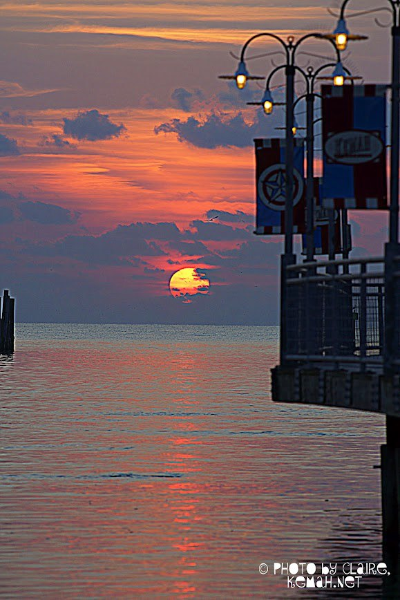 Kemah Boardwalk at Sunrise
