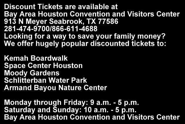 Discount Tickets are