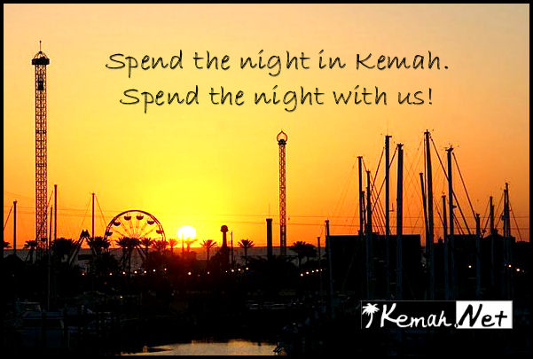 Spend the night in Kemah. Spend the night
