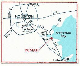 Map Of Kemah Texas